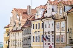Исторические здания в старом городке в Праге, чехии Стоковые Изображения