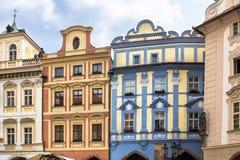 Исторические здания в старом городке в Праге, чехии Стоковые Фото