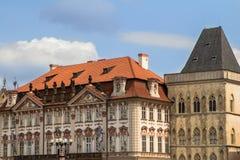 Исторические здания в старом городке в Праге, чехии Стоковое Изображение RF