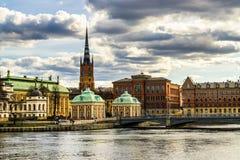 Исторические здания в Стокгольме, Швеции Стоковая Фотография RF