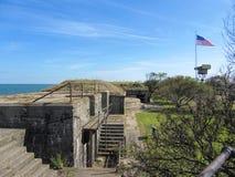 Исторические здания Вирджинии шерстей форта Стоковое Изображение RF