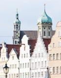 Исторические здания в Аугсбурге Стоковые Изображения