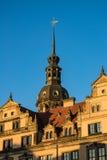 Исторические здания в Дрездене, Германии стоковое фото rf