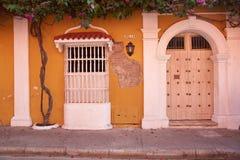 Исторические здания в Cartagena de Indias Стоковое Изображение