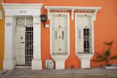 Исторические здания в Cartagena de Indias Стоковая Фотография RF