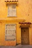 Исторические здания в Cartagena de Indias Стоковая Фотография