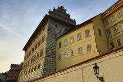Исторические здания, замок Праги, чехия Стоковое Изображение RF