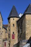 Исторические здания - Sarlat - Франция Стоковые Фотографии RF