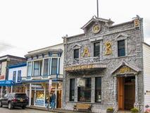 Исторические здания, Skagway, Аляска Стоковые Изображения RF