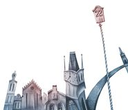 исторические квартальные башни sig Стоковая Фотография