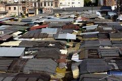 Исторические крыши рыночного местя Стоковые Фотографии RF