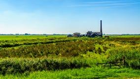 Исторические насосная установка Nijkerk или Nijkerk& x27; s Gemaal на Veluwemeer стоковая фотография rf