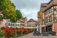 Исторические дома, Кольмар, Франция стоковая фотография