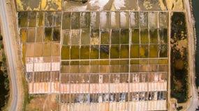 Исторические лотки соли в Авейру, Португалии Стоковое фото RF