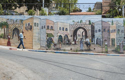 Исторические покрашенные стены и искусство Стоковое Изображение