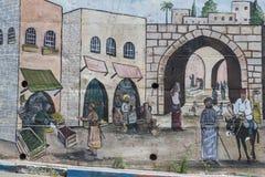 Исторические покрашенные стены и искусство Стоковые Изображения