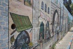 Исторические покрашенные стены и искусство Стоковая Фотография