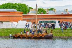 Исторические под открытым небом сказания фестиваля норвежца Викингов Стоковое фото RF