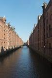Исторические склады в Гамбурге Стоковое Изображение RF