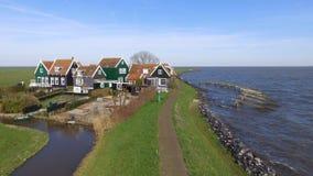 Исторические типичные голландские деревянные дома Стоковое Изображение RF
