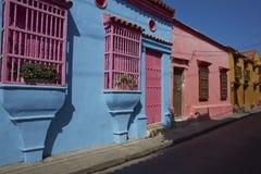 Исторические улицы Cartagena de Indias Стоковые Фото