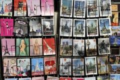 Исторические художественные открытки, Париж стоковые фотографии rf