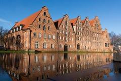 Исторические storehouses соли Стоковое Изображение RF