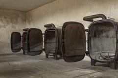 Исторический взгляд концлагеря Освенцима в цвете стоковые изображения rf