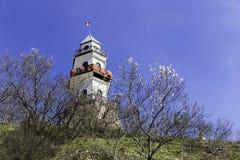 Исторический взгляд крупного плана башни с часами в Goynuk Стоковое Изображение