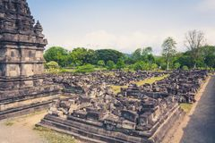 Исторический висок Prambanan индусский на Ява, Индонезии стоковые изображения rf