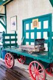 Исторический вокзал, большая долина, Альберта, Канада стоковые изображения rf