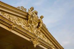 Исторический голландский орнамент на колониальном здании в Surakarta, Jav Стоковые Фото