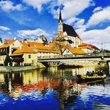 Исторический городок в чехии Стоковое фото RF