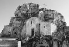 Исторический городок Matera стоковые фото