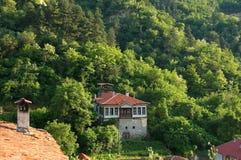 Исторический городок Melnik, Бугарски. Стоковая Фотография