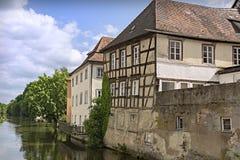 Исторический город Бамберга, освободившееся государство Баварии, Германии Стоковое Изображение