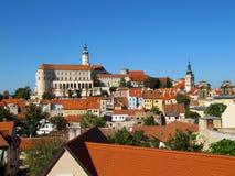 Исторический городок на границе с Австрией, Mikulov, чехия, Стоковая Фотография