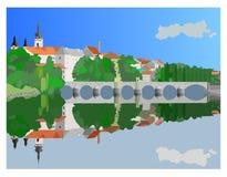 исторический городок Стоковые Фото