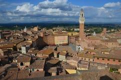 Исторический город Сиены, Тосканы, Италии Стоковая Фотография RF