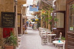 Исторический город Chania стоковые изображения rf