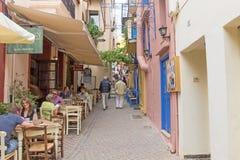 Исторический город Chania Стоковое Изображение