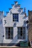 Исторический голландский дом в Veere, Нидерландах стоковое изображение rf