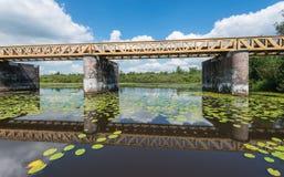 Исторический голландский отраженный мост Стоковые Изображения RF