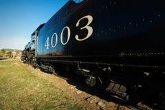 Исторический двигатель на музее вагонетки Fort Smith Стоковое Изображение RF