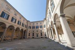 исторический дворец pavia стоковые фотографии rf