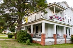 Исторический дом в Prattville стоковое изображение rf