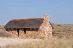 Исторический дом поселенца в парке Kgalagadi Transfrontier Стоковое Фото