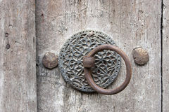 Исторический деревянный строб, doorknob Стоковое Изображение