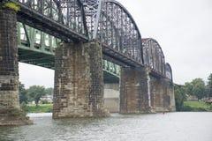 Исторический железнодорожный мост стоковое фото