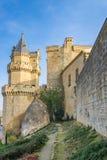 Исторический замок в центре Olite Стоковая Фотография